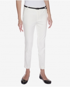 R&B Ivory Cropped ankle Pants