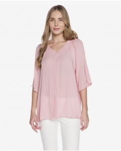 R&B Pink Tunic Blouse