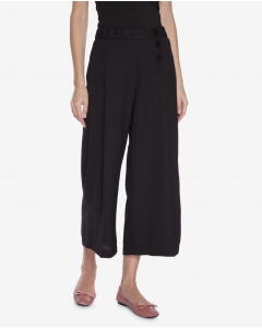 R&B Black Cropped Flare Pants