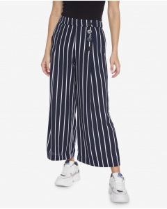 R&B Ivory Striped Flare Pants