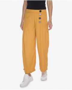 R&B Mustard Cropped Flare Pants