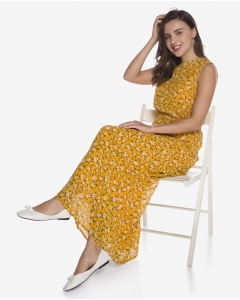 R&B Patterned Long Dress  Yellow