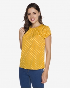 R&B Polka Dot Blouse  Yellow