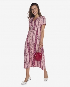 R&B Patterned Midi Dress