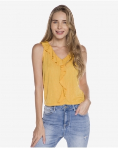 R&B Ruffled Blouse  Yellow