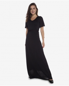R&B Plain Long Dress  Blue