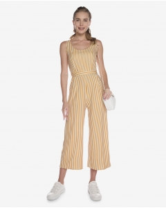 R&B Striped Jumpsuit  Yellow