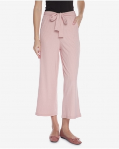 R&B Cropped Flare Pants  Pink