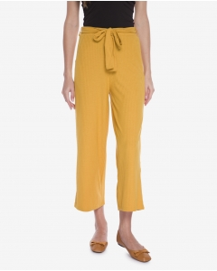R&B Cropped Flare Pants  Yellow
