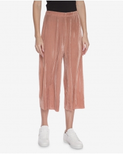 R&B Cropped Pleated Pants  Pink
