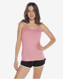 R&B Ribbed Pink Tank Top