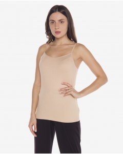 R&B Ribbed Nude Tank Top