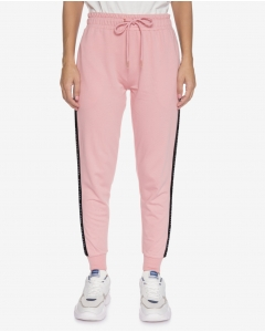 R&B Cotton Blend Joggers-Dusty Pink